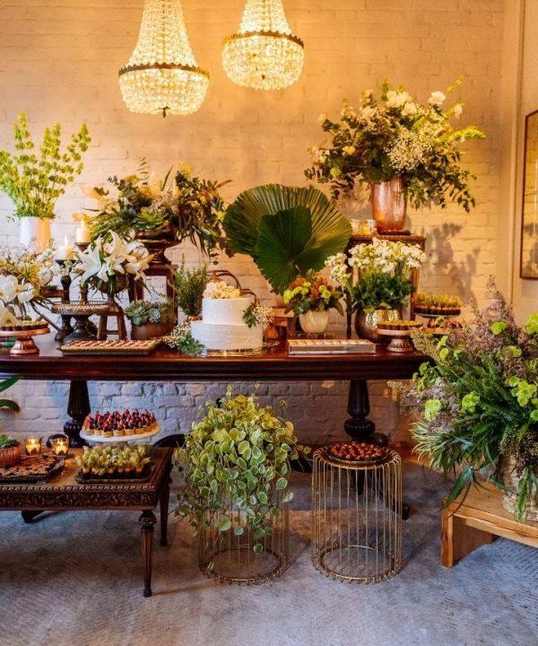 Conheça estilo de casamento botânico: Verde com predominância